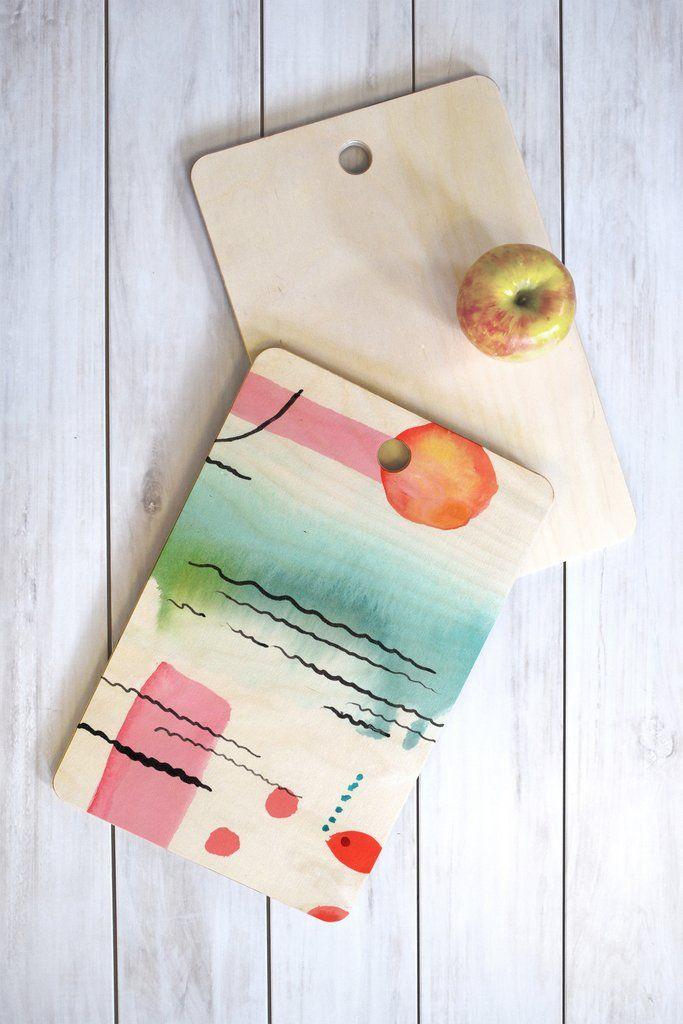 Ginette Fine Art Bubble Gum Tropics Cutting Board Rectangle | DENY Designs Home Accessories