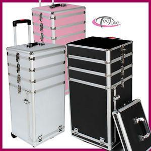 a maletin de cosmeticos maleta de piloto con ruedas belleza maquillaje nuevo