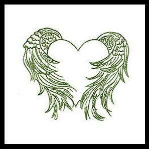 angel wing tattoos | Wing tattoo designs embracing the white heart