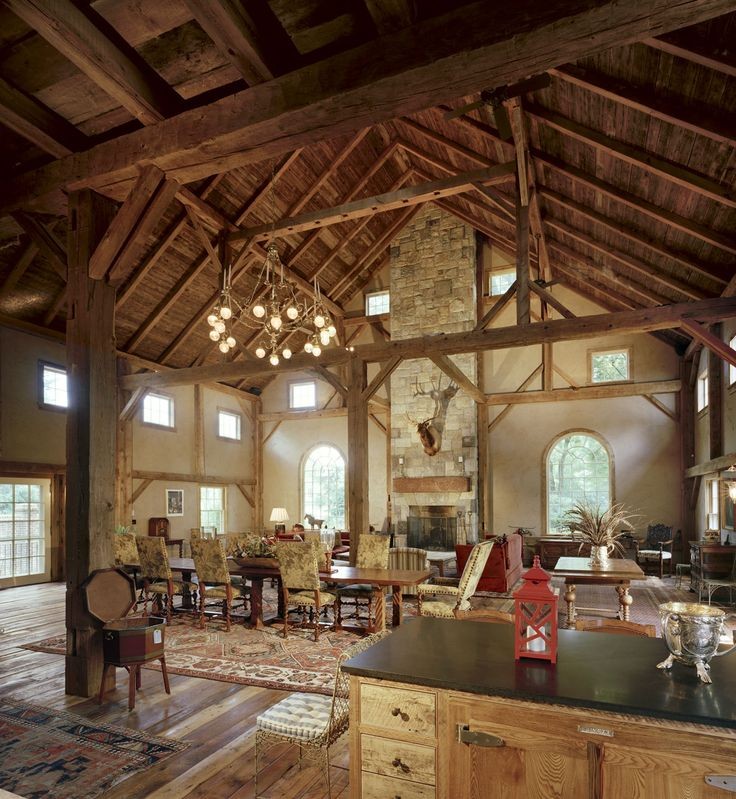 Greenwich Barn Home | Heritage Restorations - Beautiful home but as a reference, I'm not crazy about the beige plaster walls ...