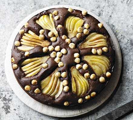 Squidgy pear & hazelnut chocolate spread cake - mmm this looks delish, and easy too!