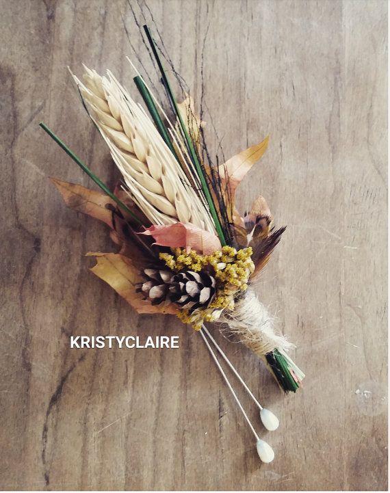 Caer el ramo de trigo piña hoja de otoño por KRISTYCLAIRE en Etsy