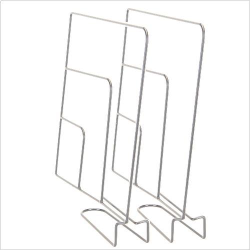 Separator na półkę w szafie, 2 sztuki, białe