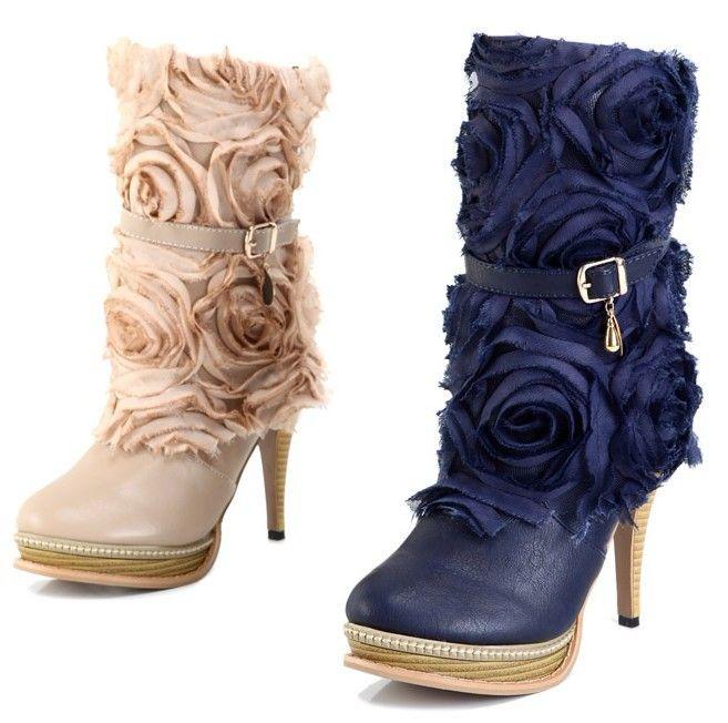 Designer Plateau Stiefel Stiefelette High Heels Boots Pumps mit Blumen Damenschuhe Beige Blau - See more at: http://www.mailanda.com/designer-plateau-stiefel-stiefelette-high-heels-boots-pumps-mit-blumen-damenschuhe-beige-blau.html#sthash.PklfOHp0.dpuf