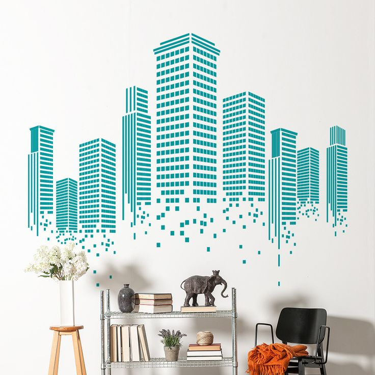 Decorate your office walls with this Urban Wall Decal. It looks great in a lobby, waiting area or canteen. It's so easy to apply and you can remove it anytim...