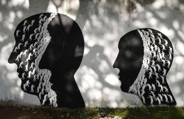Black and White Mural by Artist David De La Mano