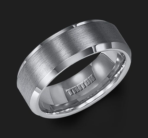 Triton wedding bands. Indestructible. Perfect for welders.