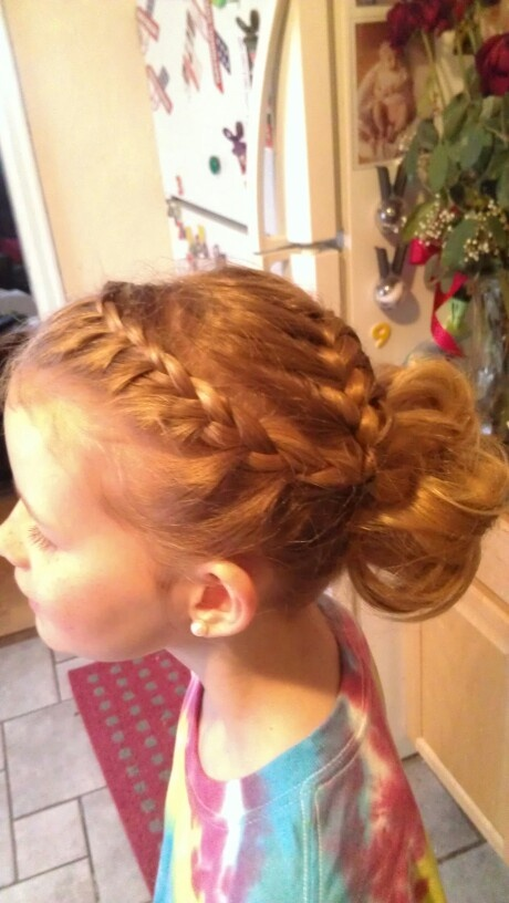 cute braid and pony tail hair style