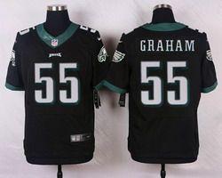 Nike Philadelphia Eagles Jersey 55 Brandon Graham Black Alternate Men's Stitched NFL New Elite Jerseys