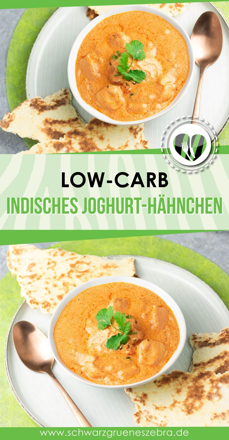 Indisches Joghurt-Hähnchen mit LC Naanbrot – Leckere Low Carb Rezepte – schwarzgrueneszebra