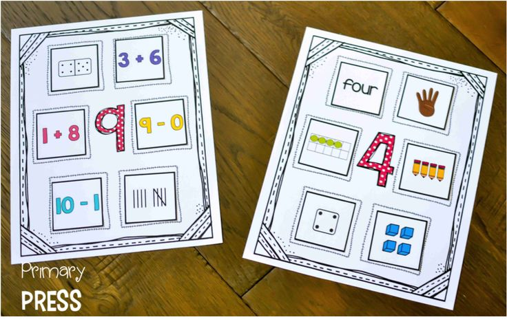 These number mats are a great way for students to practice representing numbers in various ways
