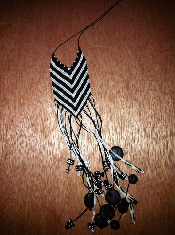 chevron necklace with beads from Africa by Maninaki on Etsy, €40.00