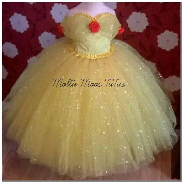 Belle Tutu Princess Fancy Dress Custom Made 1-12yrs Beauty and the Beast Photo prop by MollieMoosTuTus on Etsy https://www.etsy.com/uk/listing/266234043/belle-tutu-princess-fancy-dress-custom