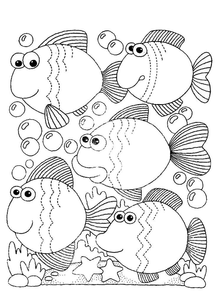 Графомоторика: проведи дорожки. Рыбы