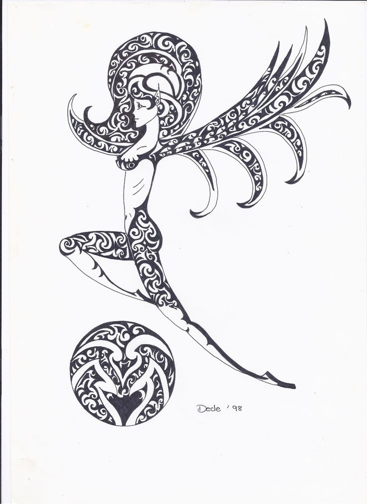 fairy 3 in black ink