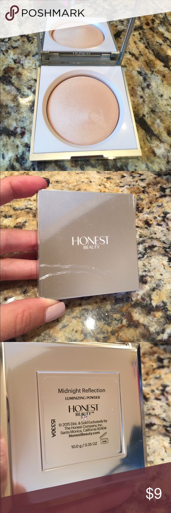 Honest beauty luminizing powder Used only once. Lightweight luminizing powder in midnight reflection. Still has plastic on the top. The Honest Company Makeup Luminizer