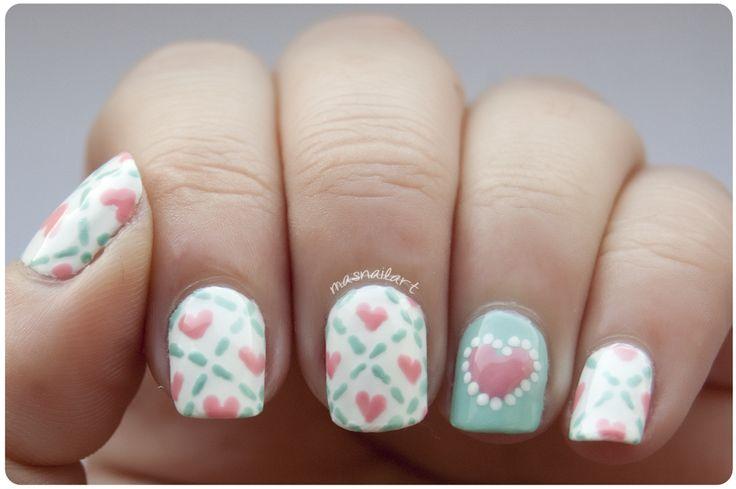 Más nail art valentine #nail #nails #nailart