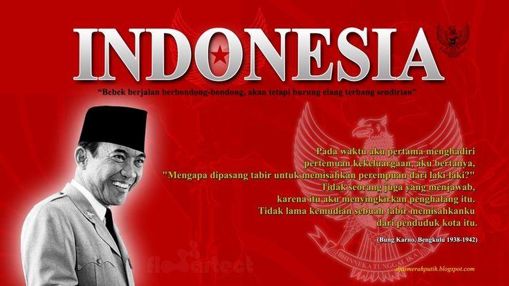 deze pin gaat over dat soekarno indonesië probeert te bevrijden.
