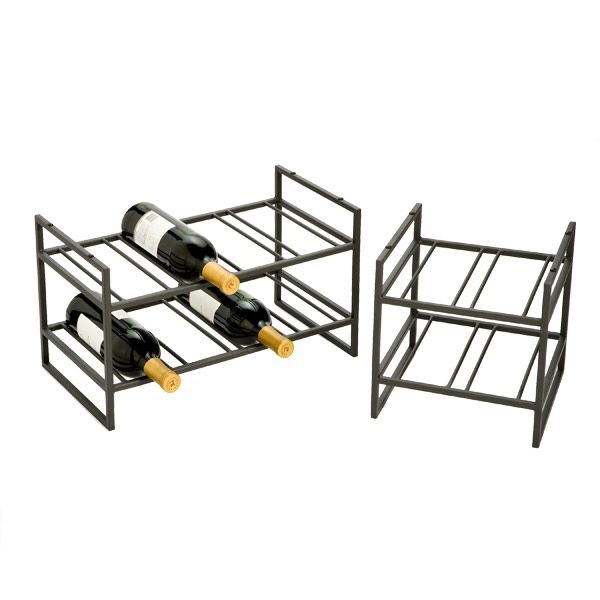 Stackable Wine Rack - Iron Stackable Wine Racks | The Container Store