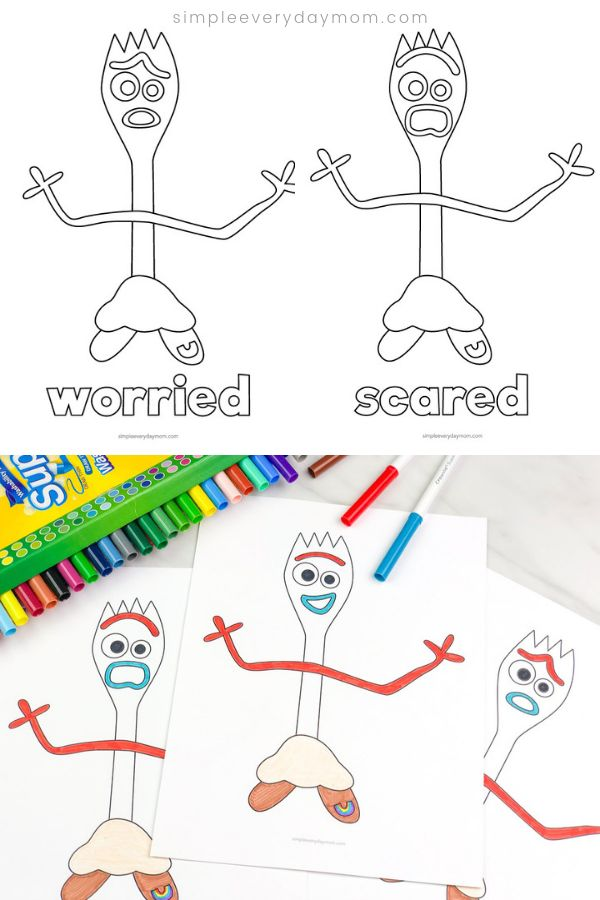 Toy Story 4 Forky Coloring Pages For Kids | Toy story ...