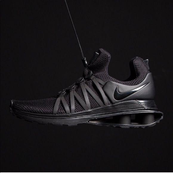 Shox Gravity Black Tennis Sneaker Shoes