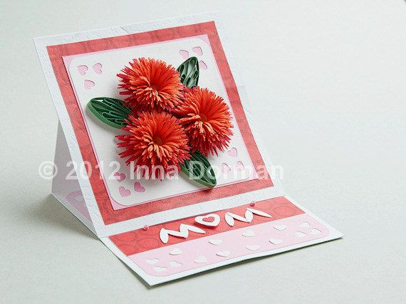 12 best mothers day floral images on pinterest mom mothers and mothers day birthday floral greeting card original design quilling paper filigree m4hsunfo
