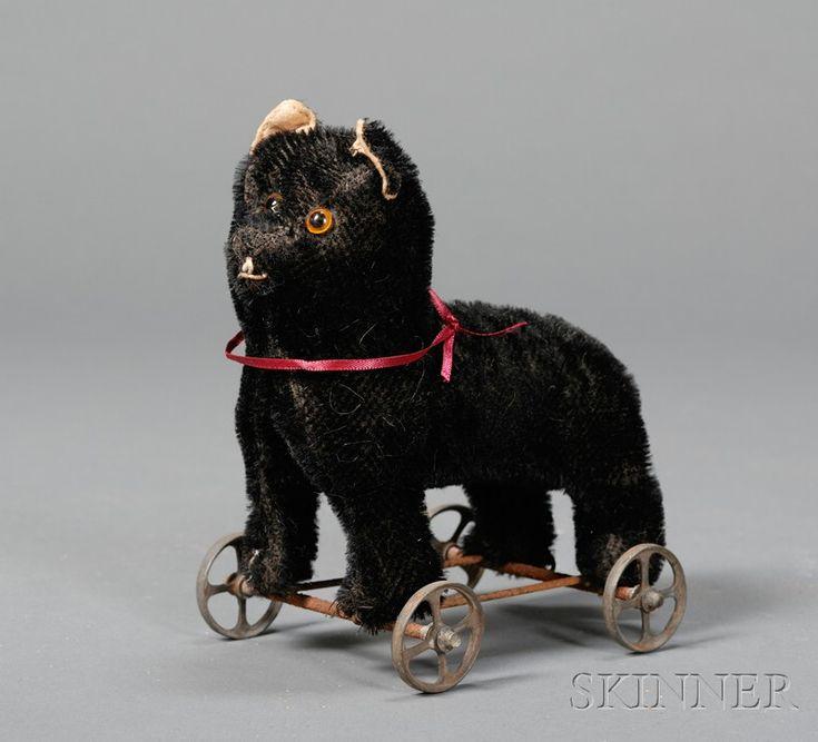 Antique Steiff Black Cat