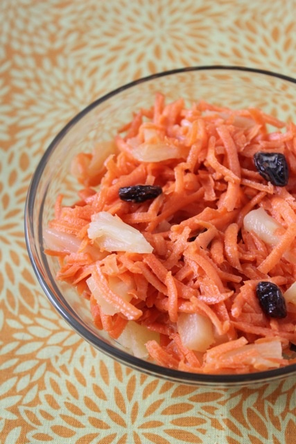 Carrot Raisin Salad - Copycat of Chik Filet apparently though I've never eaten there.  Good salad though!