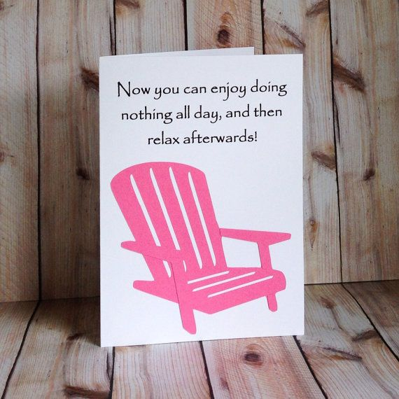 Items similar to Funny Retirement Card, Handmade Co Worker Cards, For Women or Men on Etsy