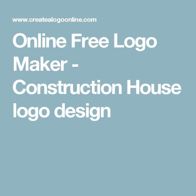 Online Free Logo Maker - Construction House logo design