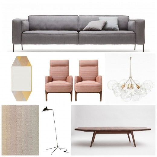 Kirsten Grove of Simply Grove arranges a Minimalist Glam Living Space