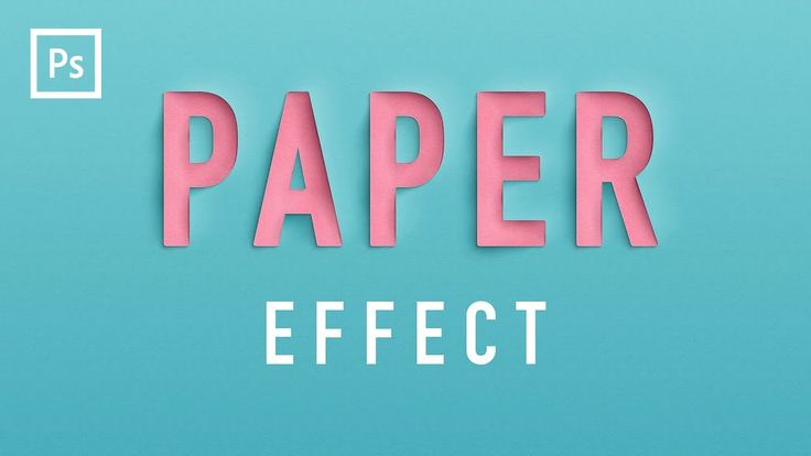 Photoshop Tutorial - Paper Cutout Text Effect (Lettering)