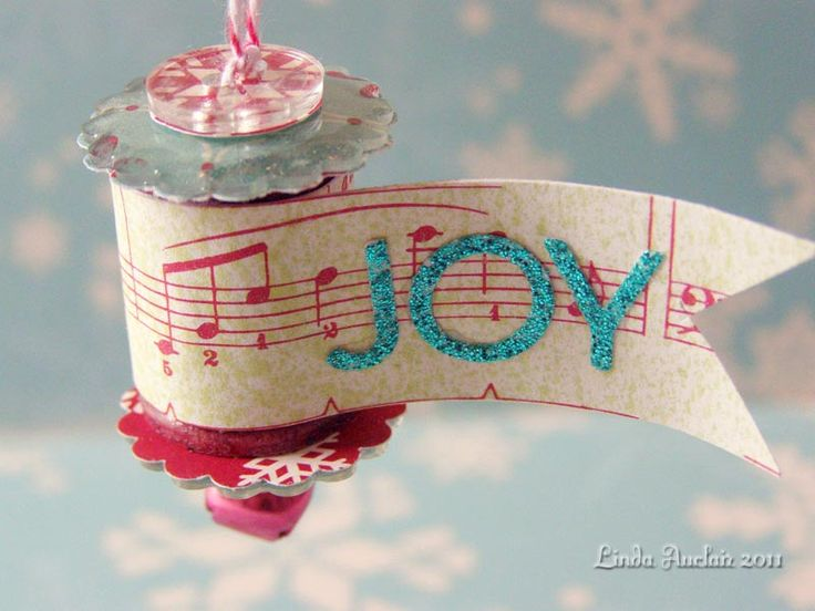That is...it makes the perfect holiday ornaments come to life! Perfect example... Designer Linda Auclair's creations we're tickled to sha...