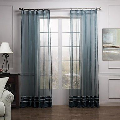 Luxury Bule High-Grade Sheer Curtain (Two Panels) – AUD $ 57.19