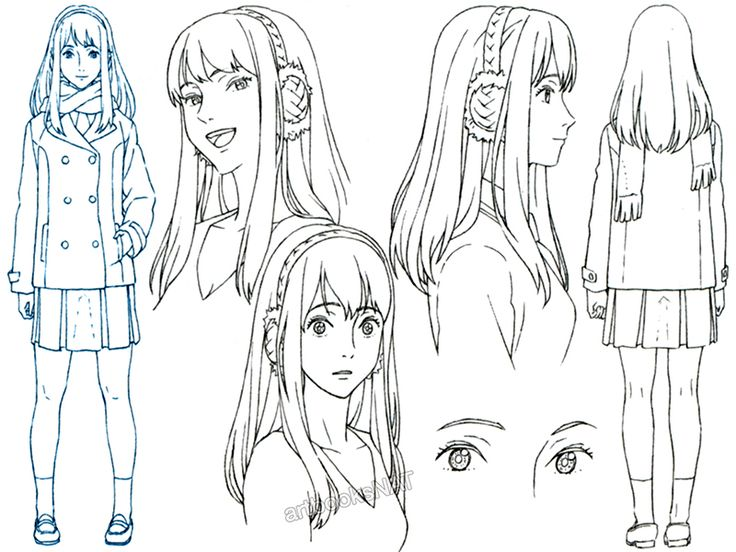 Anime Character Design Reference : Best character pose turn women images on pinterest