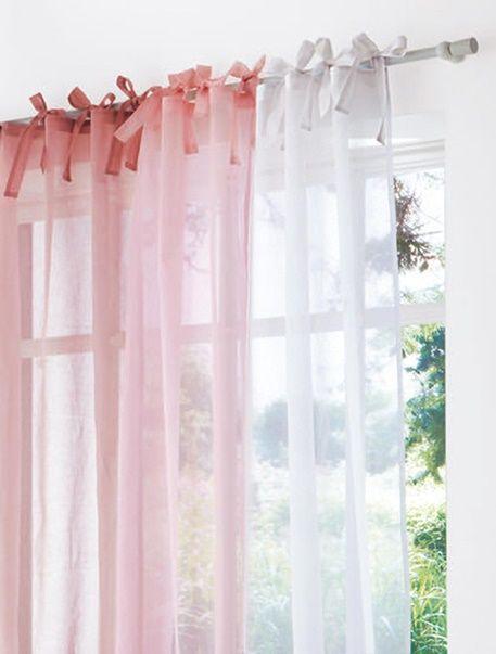 Ideal Der schicke Kindervorhang mit B ndern ist in wundersch nen zarten Farben gehalten und bringt frische Akzente Babyzimmer DekoVorhang