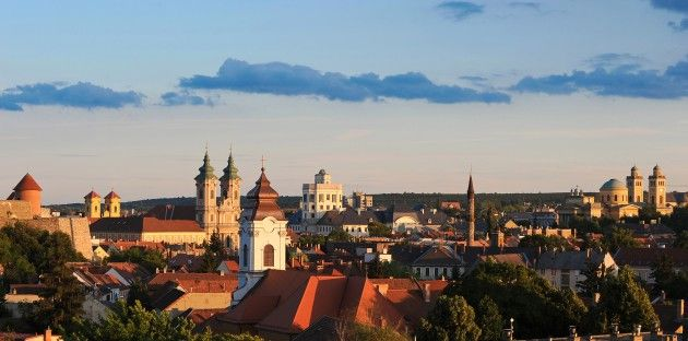 Towers in Eger, Hungary