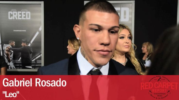 Gabriel Rosado, boxer, interviewed at the Los Angeles Premiere of Creed  #Boxer @KingGabRosado interviewed at the Los Angeles Premiere of #CREED @CreedMovie Gabriel Rosado interviewed at the Los Angeles Premiere of Creed #CREEDPremiere