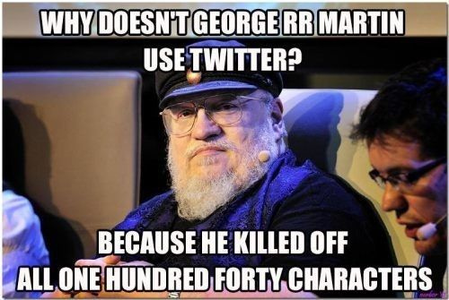 Look at this face: This is the face of a murderer. | 24 Reasons Why George R.R. Martin Is The Biggest Troll In Literature Right Now
