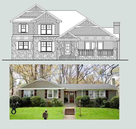 Best 25 ranch house additions ideas on pinterest house for Second floor addition ideas