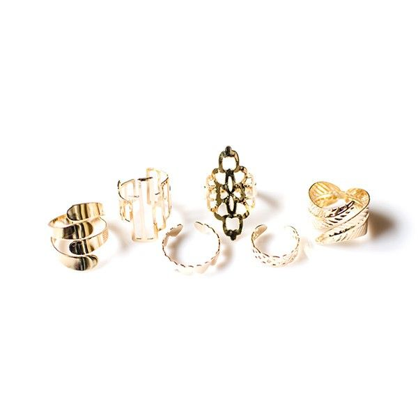 """Ringen set """"Gold Mass"""""""