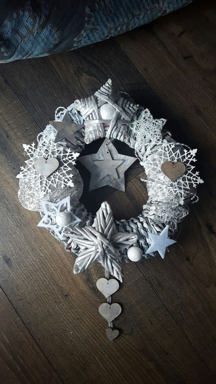 Christmas Stellar Wreath by TreeArtDesign on Etsy