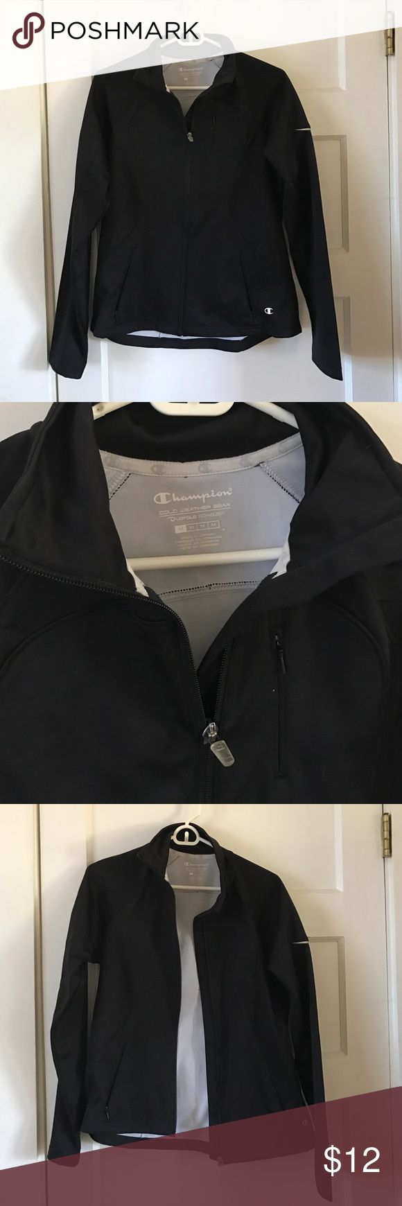 Champion Cold Weather Gear jacket Black Champion brand zip up jacket. The pockets zip up as well. Only worn a couple times. Champion Jackets & Coats