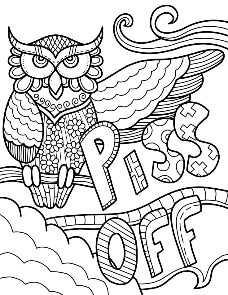 Free Swear Words Coloring Pages Coloring Book Free Swear