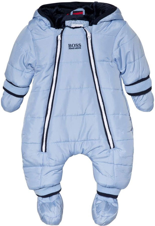 e60debf78 Pale Blue Faux Fur Lining Branded Snowsuit #comfort#needed#booties ...