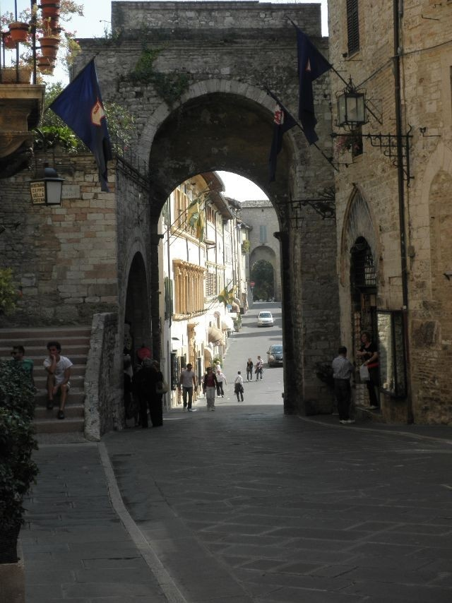 Assisi, Italy Straight ahead and to the right for St. Clarie's