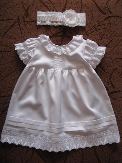 Платье на крестины для новорожденной