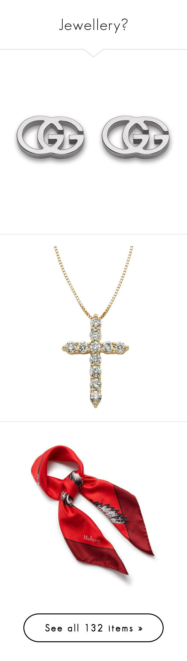 """""""Jewellery🌟"""" by lucia-grigore ❤ liked on Polyvore featuring jewelry, earrings, accessories, gucci, 18k jewelry, 18 karat gold stud earrings, white gold jewelry, 18 karat gold earrings, 18 karat gold jewelry and necklaces"""