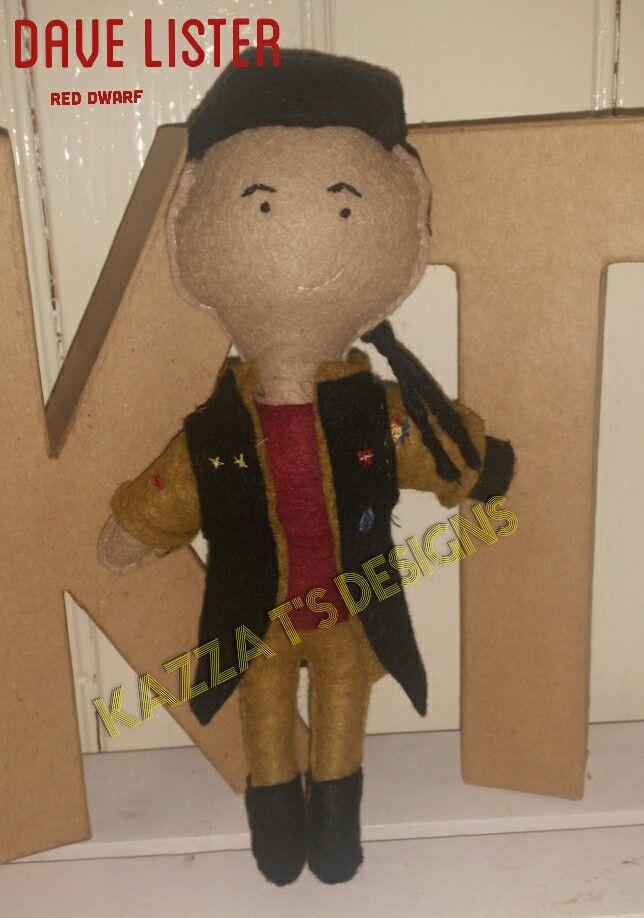 Dave Lister Handmade felt plush doll  #kazzatsdesigns #feltplushdolls #beingcreative #favecharacters #reddwarf
