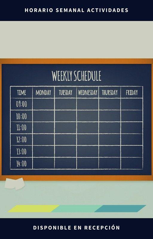 Recuerda que en recepción encontraras el horario de actividades semanal🙆⌚🏄🏋 #HotelWanderlust #Pamplona #horario #activity #hardwork